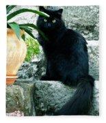 Blacky Cat Fleece Blanket