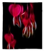 Bleeding Hearts 02 Fleece Blanket