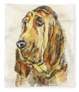 Bloodhound-watercolor Fleece Blanket