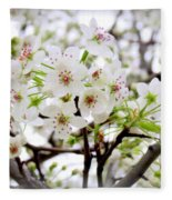 Blooming Ornamental Tree Fleece Blanket