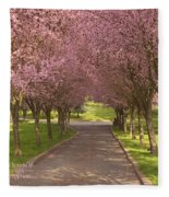 Blooms Along The Lane Fleece Blanket