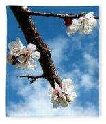 Blossoming Apricot Fleece Blanket