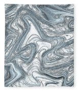 Blue Abstract Art Fleece Blanket