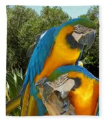 Blue And Gold Macaws Fleece Blanket