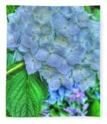 Blue And Green Flora Fleece Blanket