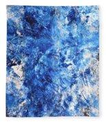 Ocean - Blue Abstract Art Paintingi Fleece Blanket