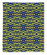 Blue And Yellow Chevron Pattern Fleece Blanket