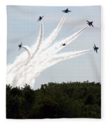 Blue Angels Star Burst Fleece Blanket