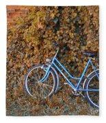 Blue Bike Fleece Blanket