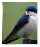 Blue Bird Of Happiness Fleece Blanket