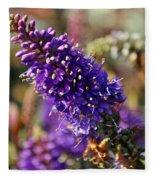 Blue Brush Bloom Fleece Blanket