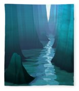 Blue Canyon River Fleece Blanket