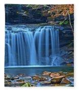 Blue Cascade Falls Fleece Blanket
