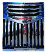 Blue Chevy Pick-up Grill Fleece Blanket