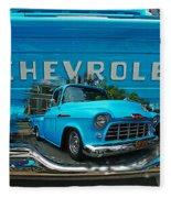 Blue Chevy Pickup Dbl. Exposure Fleece Blanket