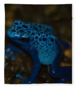 Blue Dart Frog Fleece Blanket