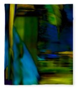 Blue Feather Reflections Fleece Blanket