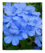 Blue Flowers Fleece Blanket