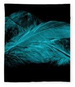 Blue Ghost On Black Fleece Blanket