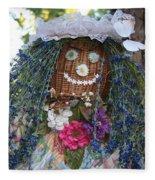 Blue Hair Bride Fleece Blanket