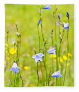 Blue Harebells Wildflowers Fleece Blanket
