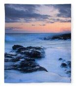 Blue Hawaii Sunset Fleece Blanket