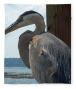 Blue Heron 2 Fleece Blanket
