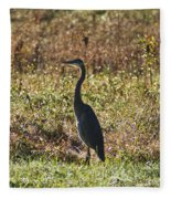 Blue Heron At Valley Forge Fleece Blanket