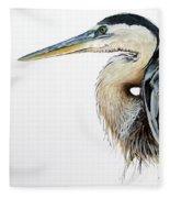 Blue Heron Study Fleece Blanket