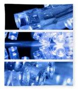 Blue Led Lights In Three Strips Fleece Blanket