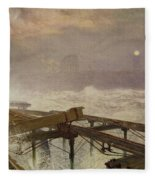 Blue Lights - Teignemouth Pier Fleece Blanket