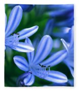Blue Lily Of The Nile Fleece Blanket