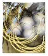 Blue Lullaby - Abstract Art Fleece Blanket by Sipo Liimatainen