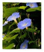 Blue Morning Glories Fleece Blanket