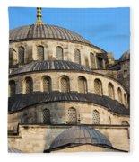 Blue Mosque Domes Fleece Blanket