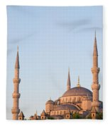 Blue Mosque In Istanbul Fleece Blanket