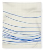 Blue Nylon Fibers Fleece Blanket