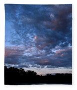 Blue On Blue Fleece Blanket
