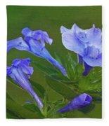 Blue On Green Fleece Blanket