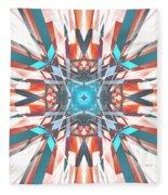 Blue Orange Kaleidoscope Fleece Blanket