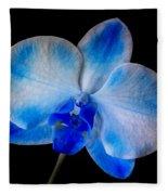 Blue Orchid Bloom Fleece Blanket