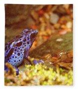 Blue Poison Dart Frog Fleece Blanket