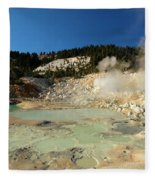 Blue Pools And Funaroles Fleece Blanket