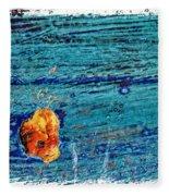 Blue Rusted Steel Painted Background Fleece Blanket