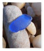 Blue Sea Glass Fleece Blanket