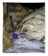 Blue Shovel Fleece Blanket