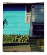 Blue Siding And Camper Fleece Blanket