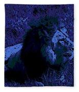 Blue Simba Fleece Blanket