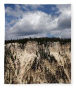 Blue Skies And Grand Canyon In Yellowstone Fleece Blanket