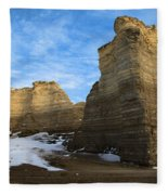 Blue Skies At Monument Rocks Fleece Blanket